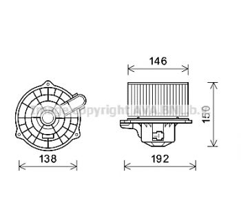 Blower  Accent  II LHD  '99-'0 AVA QUALITY COOLING HY7554